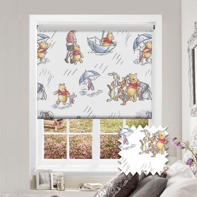Premium Roller in Disney Winnie the Pooh Patterned Fabric - Just Blinds